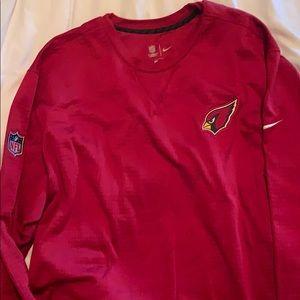 AZ Cardinals Red Nike Thermafit crewneck